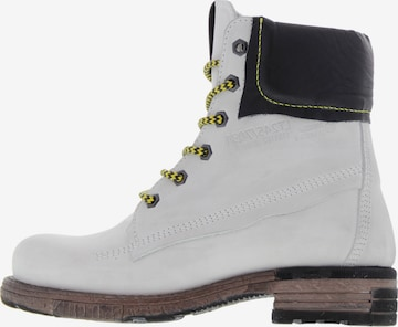 YELLOW CAB Lace-Up Boots in White
