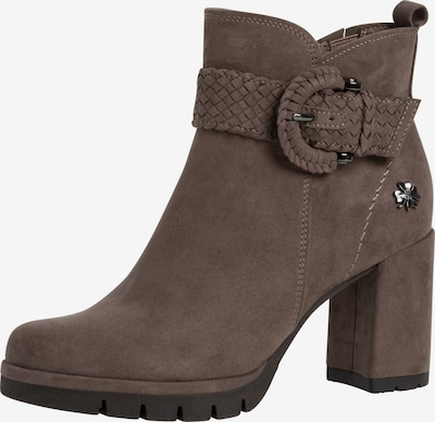 MARCO TOZZI by GUIDO MARIA KRETSCHMER Ankle Boots in Mocha / Silver, Item view