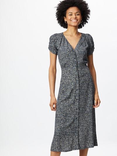 sessun Kleid 'UPALA' in kitt / taubenblau / schwarz / weiß, Modelansicht