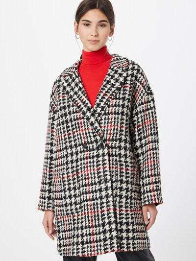 TAIFUN Between-Seasons Coat in Fire red / Black / White, View model