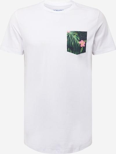 JACK & JONES Bluser & t-shirts i grøn / pink / hvid, Produktvisning
