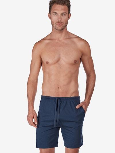 HUBER Loungewearhose ' Night Basic Selection kurz ' in navy, Modelansicht