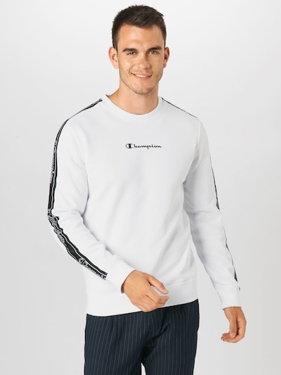 Champion Authentic Athletic Apparel Sweatshirt in weiß: Frontalansicht