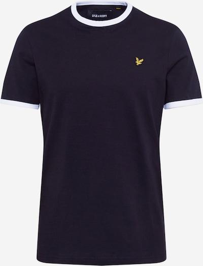 Lyle & Scott T-shirt 'Ringer' i svart / vit, Produktvy