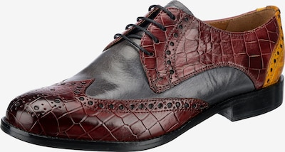 MELVIN & HAMILTON Lace-Up Shoes 'Amelie' in Yellow / Grey / Dark red / Black, Item view