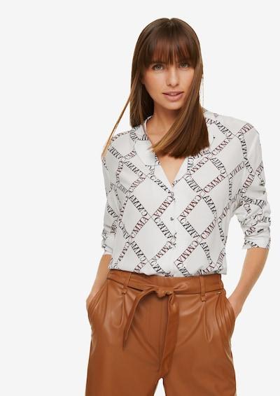 COMMA Bluse in schwarz / weiß, Modelansicht