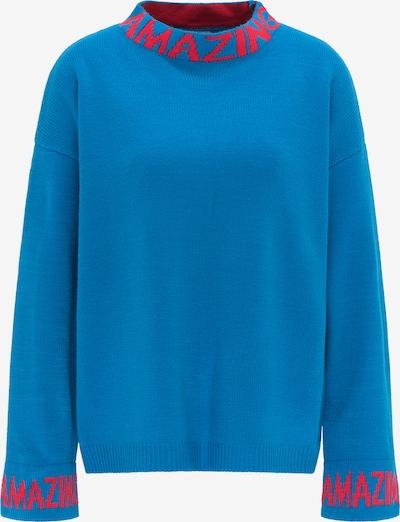 MYMO Pullover in royalblau / neonpink, Produktansicht