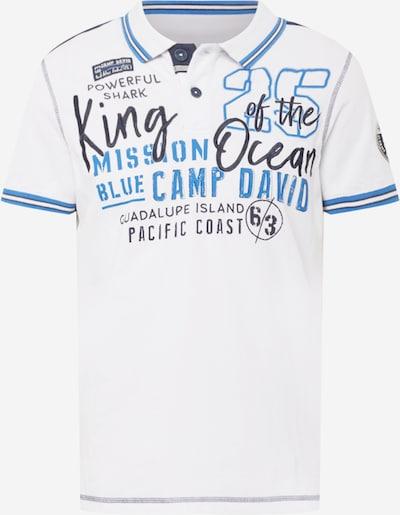 CAMP DAVID Poloshirt in rauchblau / nachtblau / himmelblau / offwhite, Produktansicht