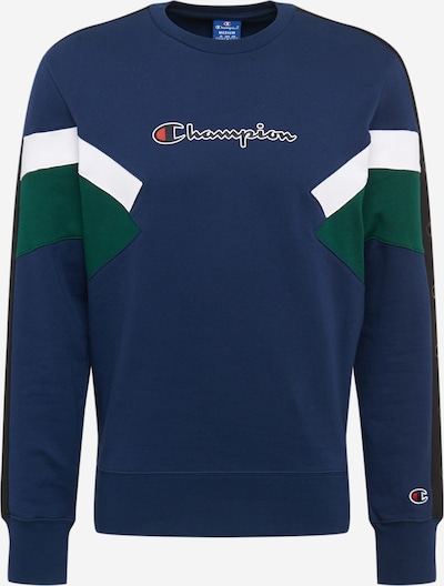 Champion Authentic Athletic Apparel Sweatshirt in de kleur Blauw / Groen / Wit, Productweergave