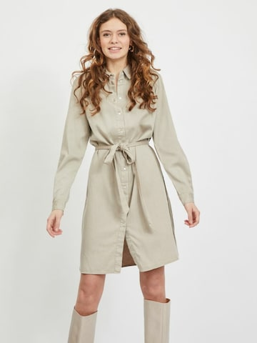 VILA Shirt Dress 'Vibista' in Beige