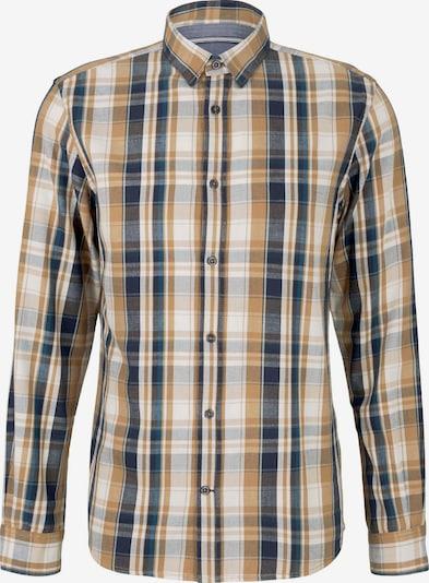 TOM TAILOR Hemd in beige / navy / hellbraun / graumeliert, Produktansicht