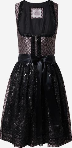 Rochițe tiroleze '013 Selinda' de la MARJO pe negru
