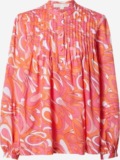 MICHAEL Michael Kors Bluse 'GROOVY SWIRL' in dunkelorange / rosa / dunkelpink / weiß, Produktansicht