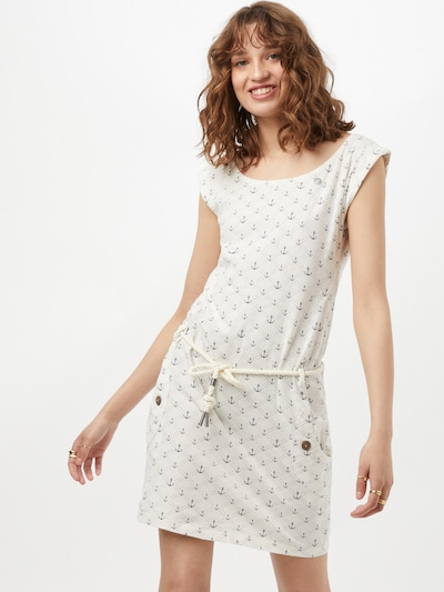 Ragwear Kleid 'Marina' in dunkelblau / weiß, Modelansicht