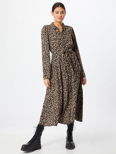 MOSS COPENHAGEN Kleid in beige / schwarz, Modelansicht