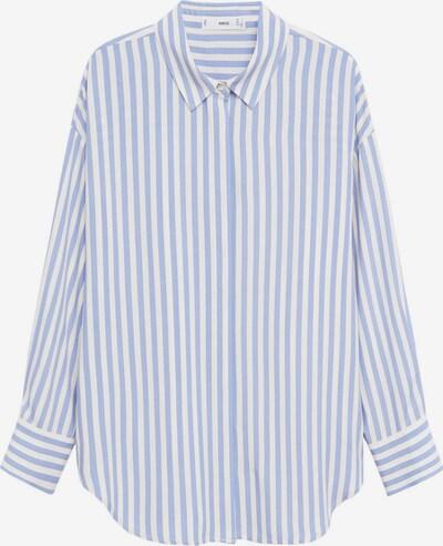 MANGO Bluse in hellblau / weiß, Produktansicht