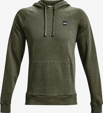 UNDER ARMOUR Sportsweatshirt 'Rival' in de kleur Olijfgroen / Zwart / Wit, Productweergave
