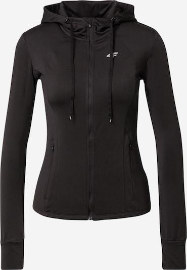 4F Sweatjacke in schwarz, Produktansicht
