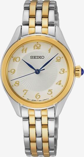 SEIKO Analoguhr in gold / silber, Produktansicht
