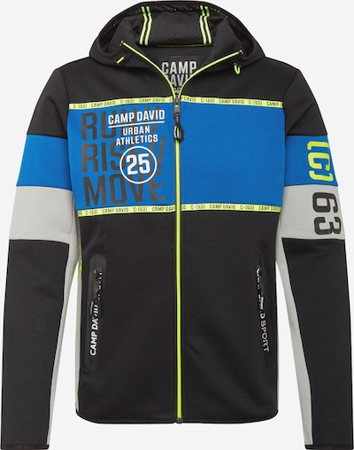 CAMP DAVID Sweat jacket in Blue / Grey mottled / Neon green / Black / White, Item view