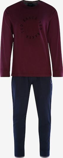 Ted Baker Pyjama lang 'Round Logo' in de kleur Grijs / Bordeaux, Productweergave
