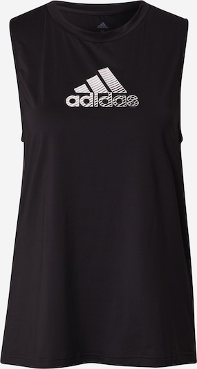 Sport top ADIDAS PERFORMANCE pe negru / alb, Vizualizare produs