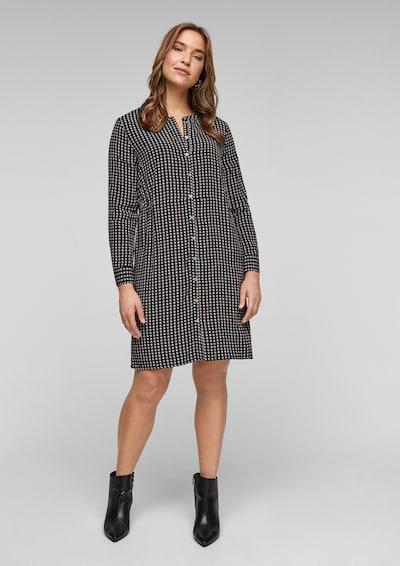 TRIANGLE Hemdblusenkleid in schwarz / weiß, Modelansicht