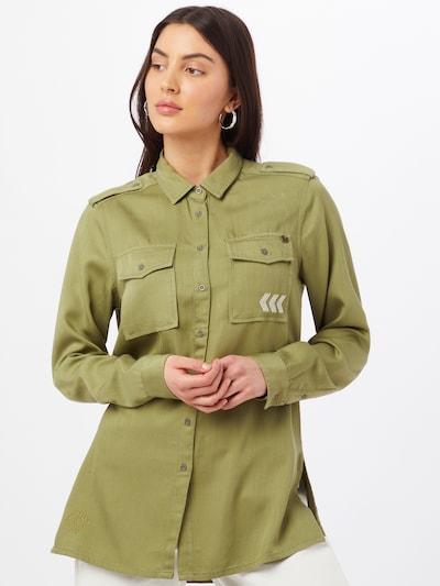 Superdry Bluse in grün, Modelansicht