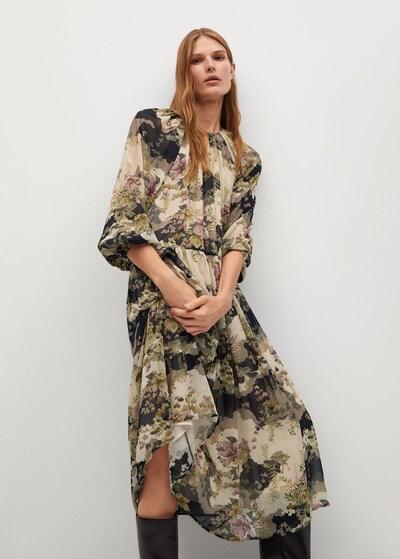 Rochie de vară 'Mulan' MANGO pe bej deschis / mov pastel / negru / alb lână, Vizualizare model