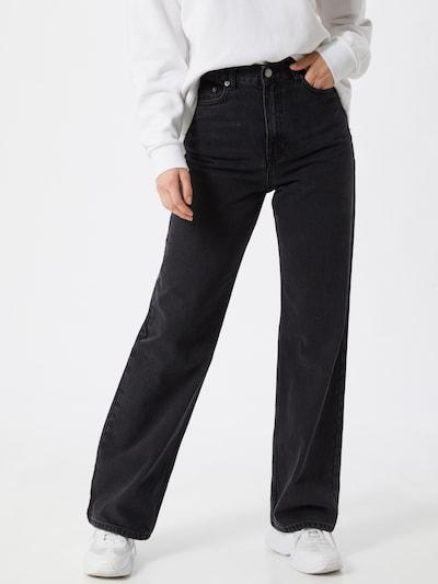 Dr. Denim Jeans 'Echo' i svart: Sedd framifrån