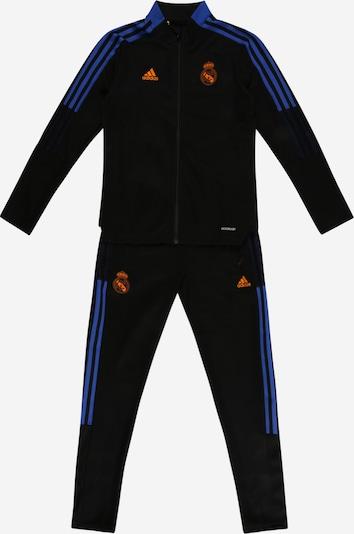 """Treniruočių kostiumas 'Tiro Real Madrid' iš ADIDAS PERFORMANCE, spalva – sodri mėlyna (""""karališka"""") / aukso geltonumo spalva / pastelinė raudona / juoda, Prekių apžvalga"""