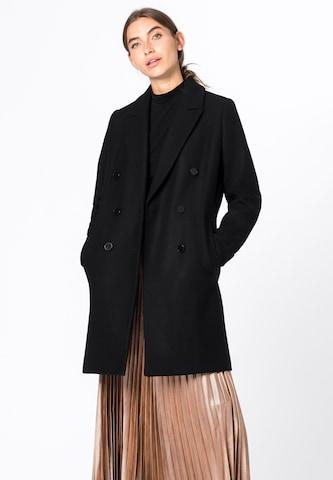 HALLHUBER Between-Seasons Coat in Black