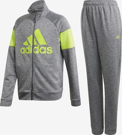 ADIDAS PERFORMANCE Trainingsanzug 'Bos' in neongelb / graumeliert, Produktansicht