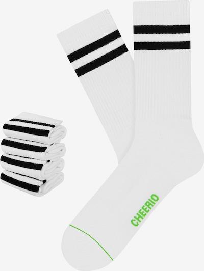 CHEERIO* Socken 'TENNIS TYPE 4P' in weiß, Produktansicht