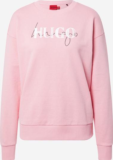 HUGO Sweatshirt 'Nakira' in hellpink / schwarz / weiß, Produktansicht
