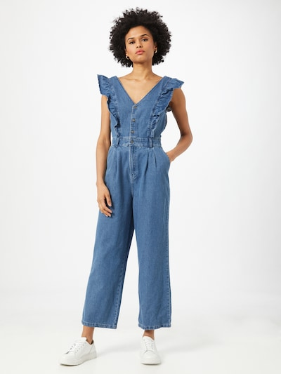 Noisy may Jumpsuit in blue denim, Modelansicht