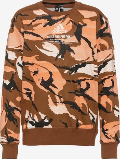 ADIDAS PERFORMANCE Sportsweatshirt 'ZNE' in de kleur Crème / Karamel / Zalm roze / Zwart / Wit, Productweergave