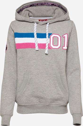 Bluză de molton Derbe pe azuriu / gri / roz / alb, Vizualizare produs