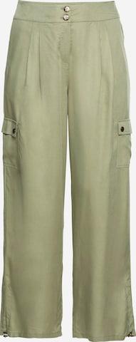 SHEEGO Élére vasalt nadrágok - zöld