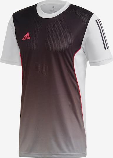 ADIDAS PERFORMANCE T-Shirt in mokka / weiß: Frontalansicht