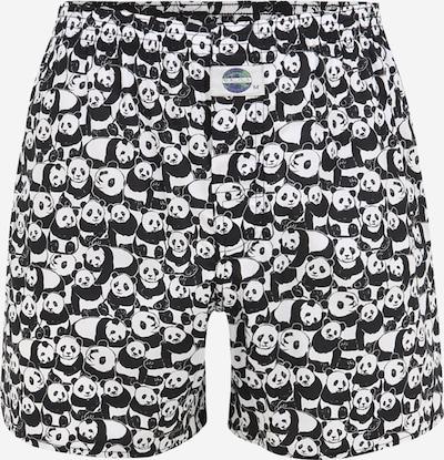 D.E.A.L International Bokseršorti 'Panda', krāsa - melns / balts, Preces skats