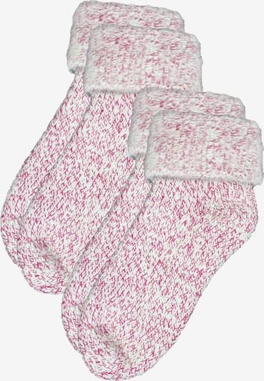ROGO Socken in pink / weiß, Produktansicht