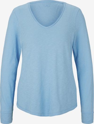 TOM TAILOR T-Shirt Langarmshirt mit V-Ausschnitt in blau, Produktansicht