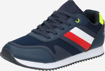 TOMMY HILFIGER Zapatillas deportivas en navy / amarillo neón / rojo claro / blanco, Vista del producto