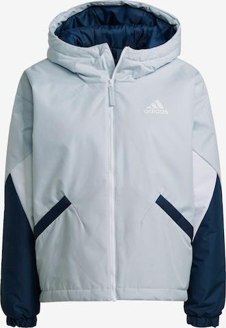 ADIDAS PERFORMANCE - Sudadera con cremallera deportiva en azul