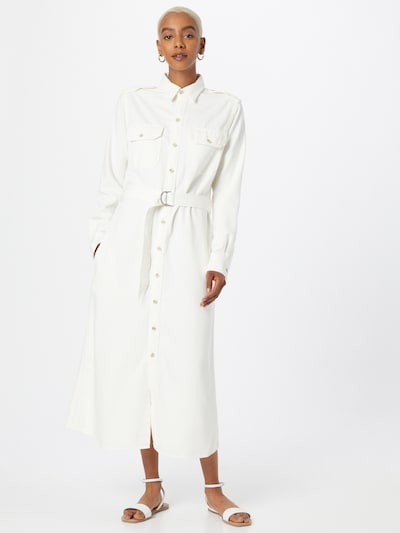 Polo Ralph Lauren Robe-chemise en blanc, Vue avec modèle