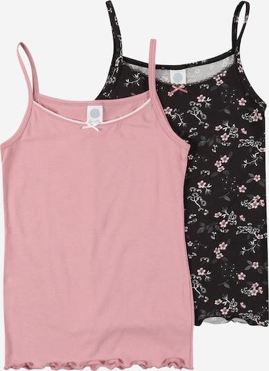 SANETTA Top 'DP' en gris / rosa / negro / blanco, Vista del producto