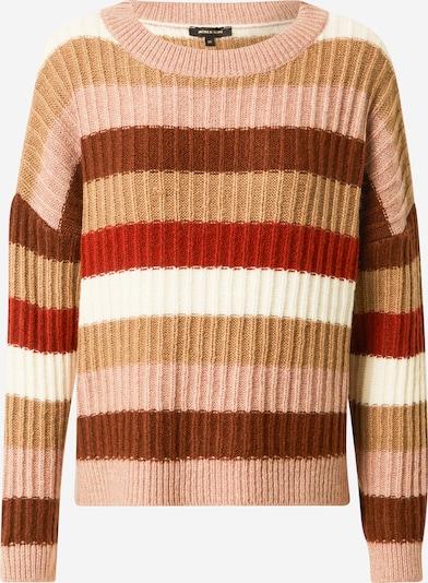 Pulover MORE & MORE pe maro cămilă / ecru / roze / alb, Vizualizare produs
