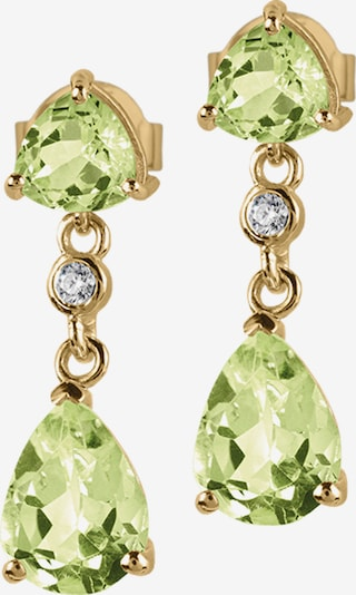 Jacques Lemans Earrings in Gold / Light green, Item view