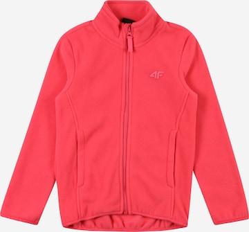 4FTehnička flis jakna - roza boja
